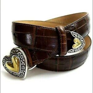 Brighton Aligator Leather Heart Belt